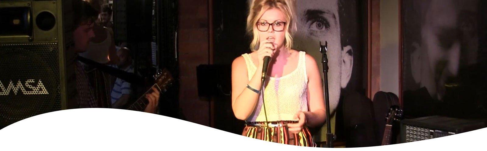 Gemma James, UK pop singer, UK Singer, Open mic
