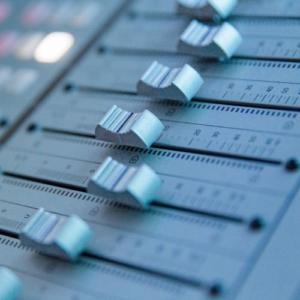 Mixing desk, recording studio